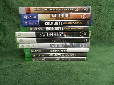 Xbox One/360/ps4 Games As Is - No Reserve -