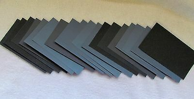 27PC WET SANDPAPER Headlight 3x5 1/2  400 600 800 1000 1200 1500 2000 2500 3000