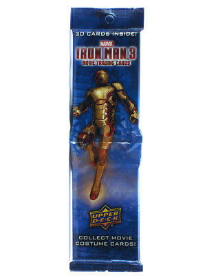 2013 Upper Deck Iron Man 3 Trading Cards 30-Card Jumbo Rack Pack Marvel Comics