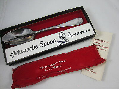 Vintage Reed & Barton Mustache Spoon in Box w/ Carry Bag & Instructions