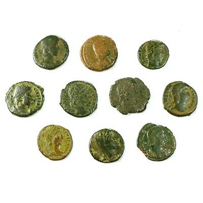 Ten (10) Nicer Ancient Roman Coins c. 100 - 375 A.D. Exact Lot Shown rm3514