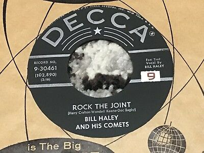 45 RPM  Bill Haley Comets DECCA 30461 Rock the Joint / How Many   M-