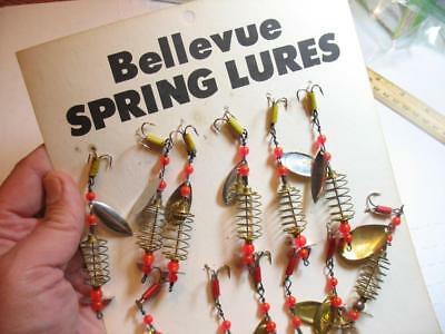 dealer card of Bellevue spring lures new on card IOWA
