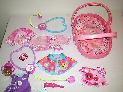 Large Group Lot of Baby Alive Doll Clothes Carrier & Accessories