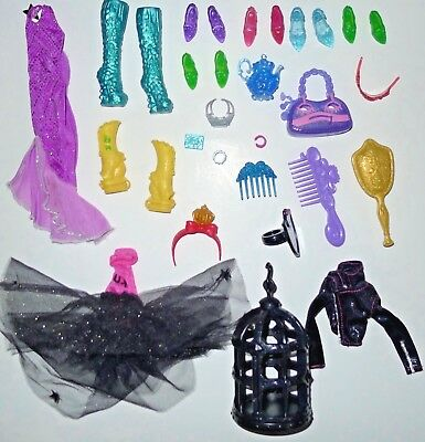 Monster High Ever After High Doll Shoe Purse Clothes Accessories Lot