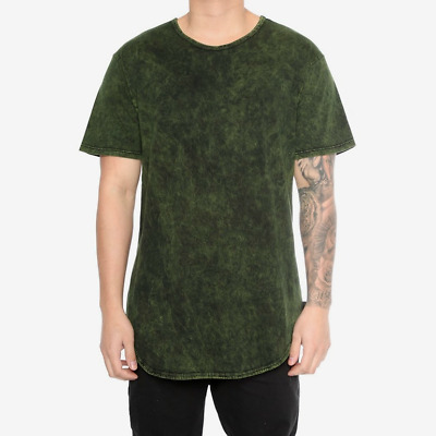 0256936f Eptm Contemporary Clothing Long T Shirt Extended Mineral Wash Tee Men's  Urban
