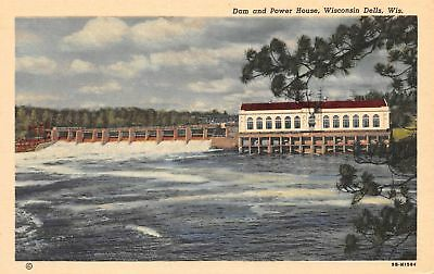 C11-8566, Dam And Power House,  Wisconsin Dells, Wis.,