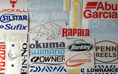 Fishing Stickers Pack Set Of 12 Marine Boating Decals Boat Kayak Car ManCave
