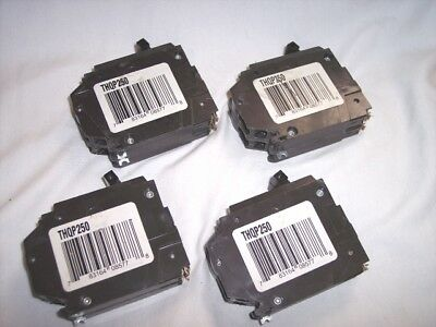 Lot of 4 Double Pole 30 Amp Circuit Breaker THQP230 Breaker GE Brand 2 Pole Unit