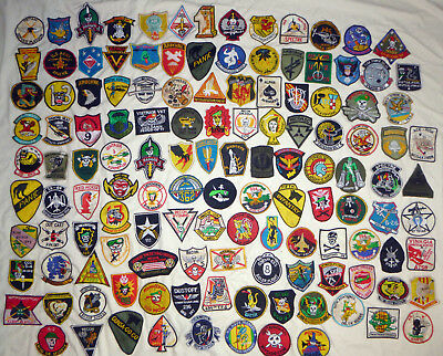 LOT x 129 PATCH / PATCHES - US MILITARY - MACV, USAF, ARMY - USSF - Vietnam War