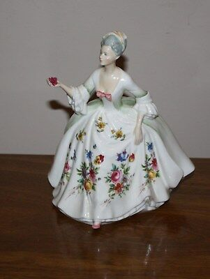 "Beautiful 1985 Royal Doulton ""diana"" Hn 2468 Figurine Signed/dated By K. Wilshaw"