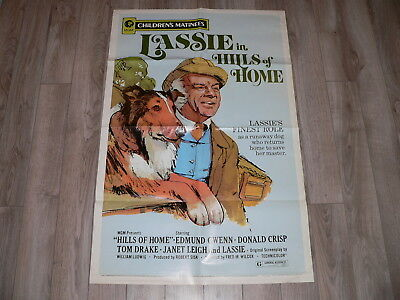 """Original 1972 MGM Lassie in """"Hills of Home"""" Movie Poster R72/282"""