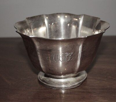 Beautiful Vintage Cartier Solid Sterling Silver Footed Bowl