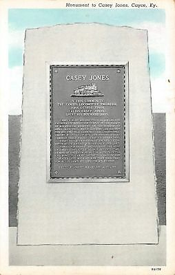 C11-9019, Monument To Caey Jones, Fulton County, Ky.,