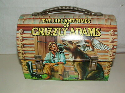 1977 Tin-Litho Dome Top Grizzly Adams Lunchbox
