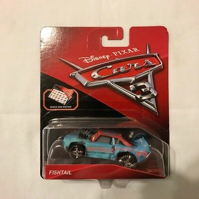 Disney Pixar Cars 3 Diecast 1 55 Scale Mattel Fishtail Thunder