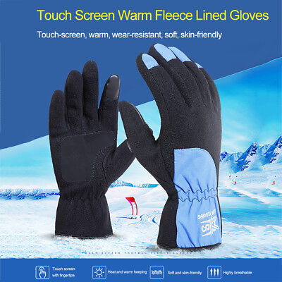 Unisex Touch Screen Fleece Thermal Winter Warm Gloves for Outdoor Cycling Skiing