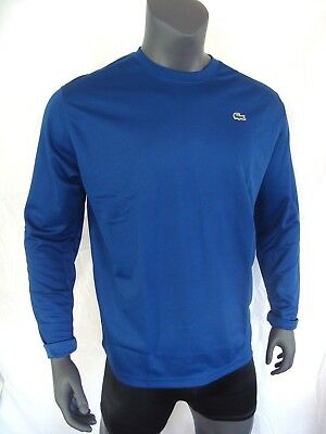 ec4604f063 Lacoste Sport Bleu Poly Tricot Ls Homme T-Shirt Manches Longues Neuf Taille  XL,