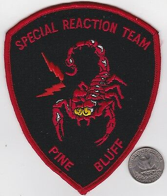 Pine Bluff Arkansas SPECIAL REACTION TEAM Scorpin Patch Police Swat