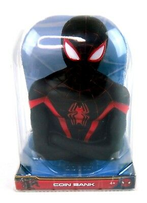 Marvel Spider-Man Black Suit Toy Coin Bank ~ New