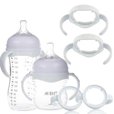 1pc Wide Mouth Baby Cup Feeding Bottle Trainer Easy Grip Handles Holder Portable