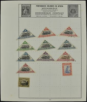 Mozambique Company Album Page Of Stamps #V7671