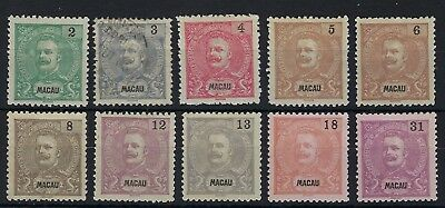 Macau 1903 New Colours set excluding 47a unused or used