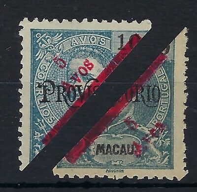 Macau 1911 5a on 10a  Provisorio bisects unused