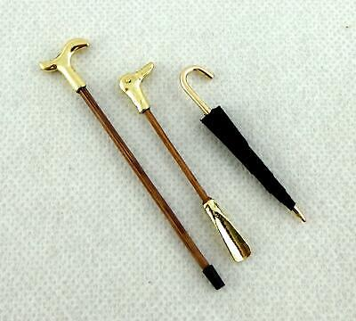 Dolls House Accessories-Metal Walking Stick//Cane dh71