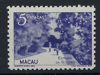 Macau 1948 5p blue-violet View hinged mint
