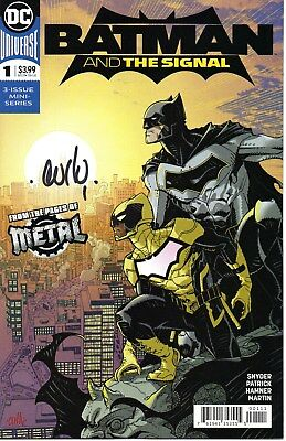 Batman And The Signal #1 (March 2018, DC) Metal Signed NM High Grade
