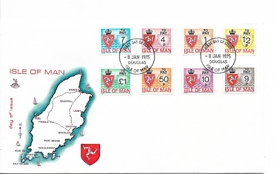 ISLE of MAN 1975 Postage Due set - SG D 9/16 - FDC