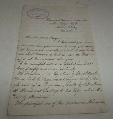 1903 Letter from Havana Cuba to Colorado Springs CO