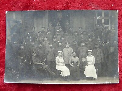 German Soldiers,Wounded,Nurses,Wheelchair,Dated and Annotated Rear-May 1917