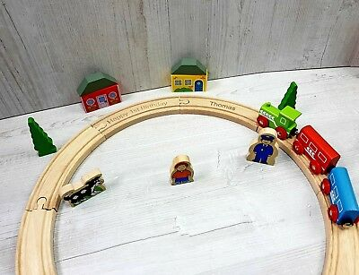 Personalised Engraved Wooden My First Train Set Toddler Gift in gift box