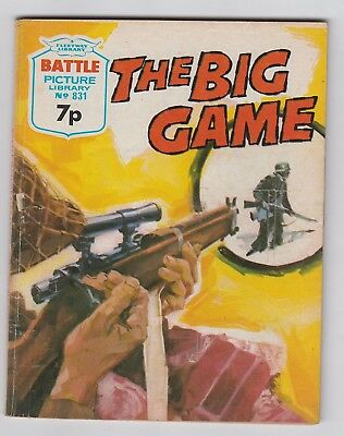 BATTLE PICTURE LIBRARY No. 831  =  THE BIG GAME  =  {IPC MAGAZINES 1974}  =
