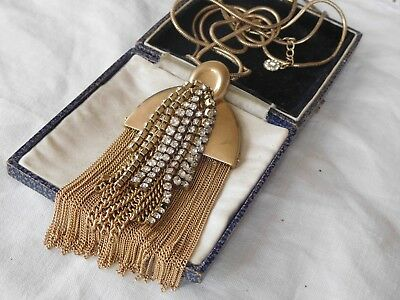 Lovely Cascading Vintage 1980s Gold TASSEL Necklace