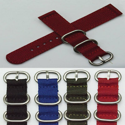 TOUGH watch strap army military nylon NATO keepers band mens 18mm 20mm 22mm Zulu