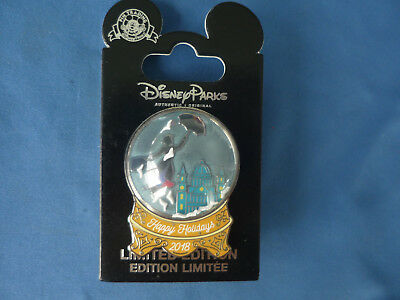 MARY POPPINS Disney Pin 2018 CAST MEMBER EXCL Happy Holidays  LE HTF  New Card