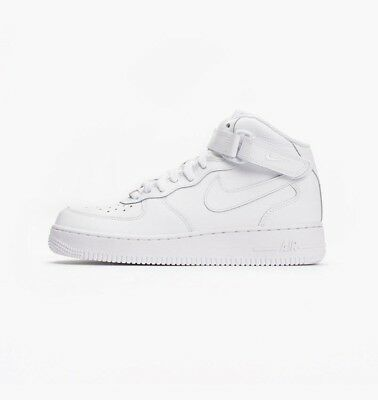 buy popular b688a 696af Chaussures Baskets Nike unisexe Air Force 1 mid  06 (GS) taille Blanc  Blanche