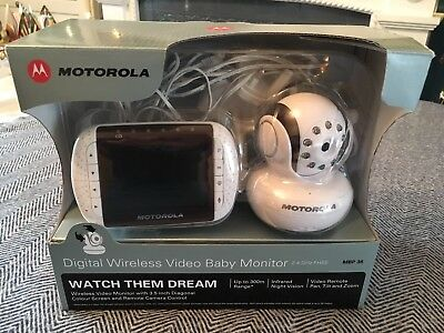 Motorolla Digital Wireless Video Baby Monitor MBP 36