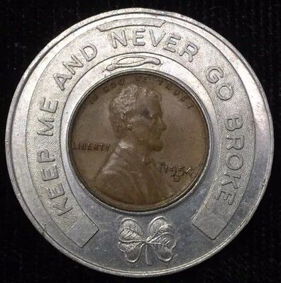 "MANASQUAN NJ Bank LUCKY 1 Cent SOUVENIR ""KEEP ME AND NEVER GO BROKE"" C-2031"