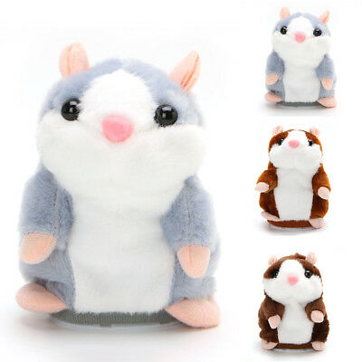 Cute Kids Talking Nod Hamster Mouse Record Chat Pet Plush Toy XMAS Gift US STOCK