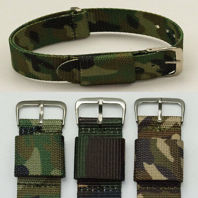 NATO ZULU G10 Watch strap army military nylon band 20mm 22mm green brown divers.