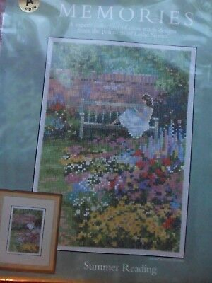 """Heritage Memories """"Summer Reading""""  - Counted Cross Stitch Kit - New"""