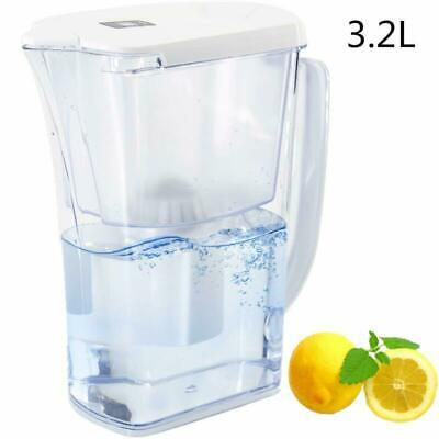 10 Cup Long-Lasting Water Filter Pitcher with 2 2.5 L Filters Filtration System