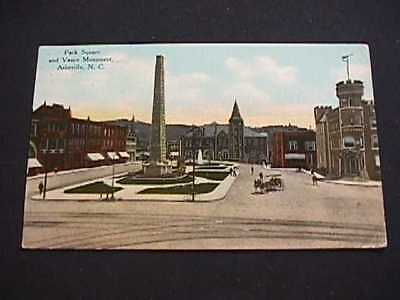 1910 Pack Square And Vance Monument, Asheville, North Carolina Postcard