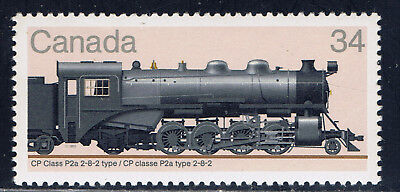 Canada #1072(1) 1985 34 cent LOCOMOTIVES CP CLASS P2a  2-8-2 Type MNH