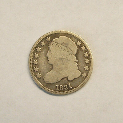 Rare!!! 1831 Dime 10 Cent Capped Bust - Only Minted 1,242,700