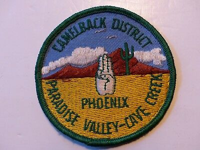 Vintage Camelback District Theodore Roosevelt Council Arizona Boy Scout Patch
